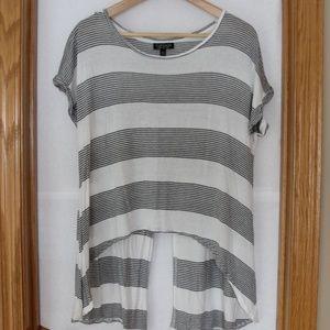 Topshop Hi Low Hem Split Back Cropped T Shirt